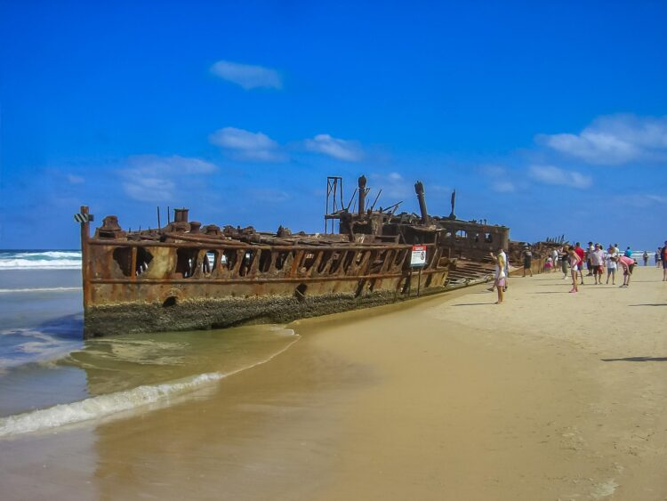 Shipwreck on Fraser Island