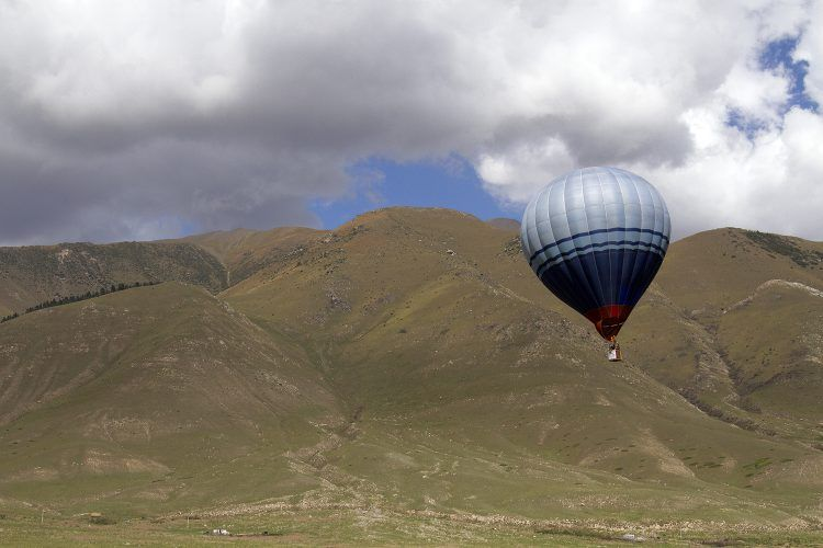 Hot air balloon in Kyrgyzstan