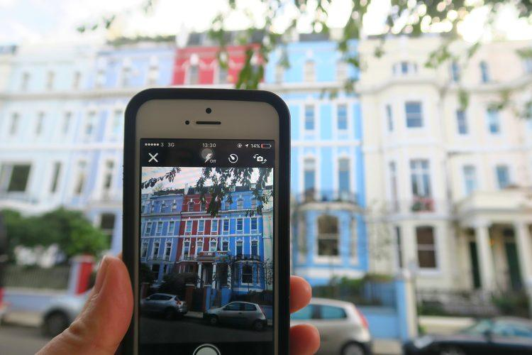 Snapping photos around Notting Hill in the United Kingdom.