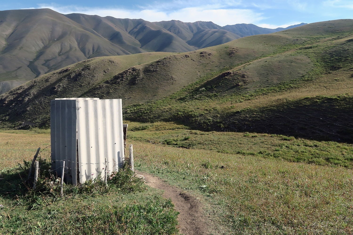 Backpacking Kyrgyzstan may require the use of squat toilets