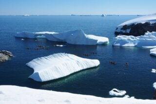 Antarctica sea kayaking