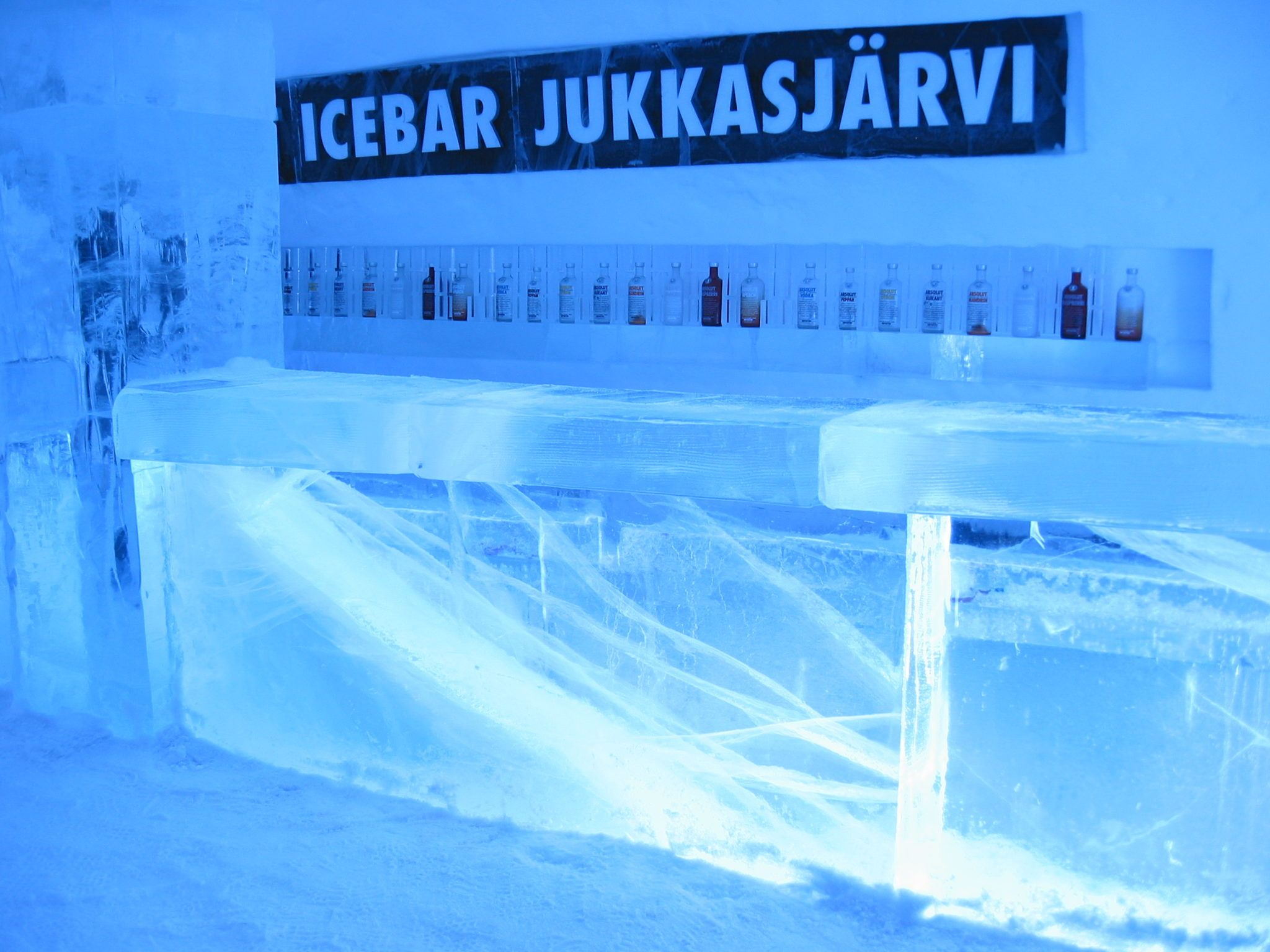 Icebar in Icehotel is a unique travel destination in Sweden.