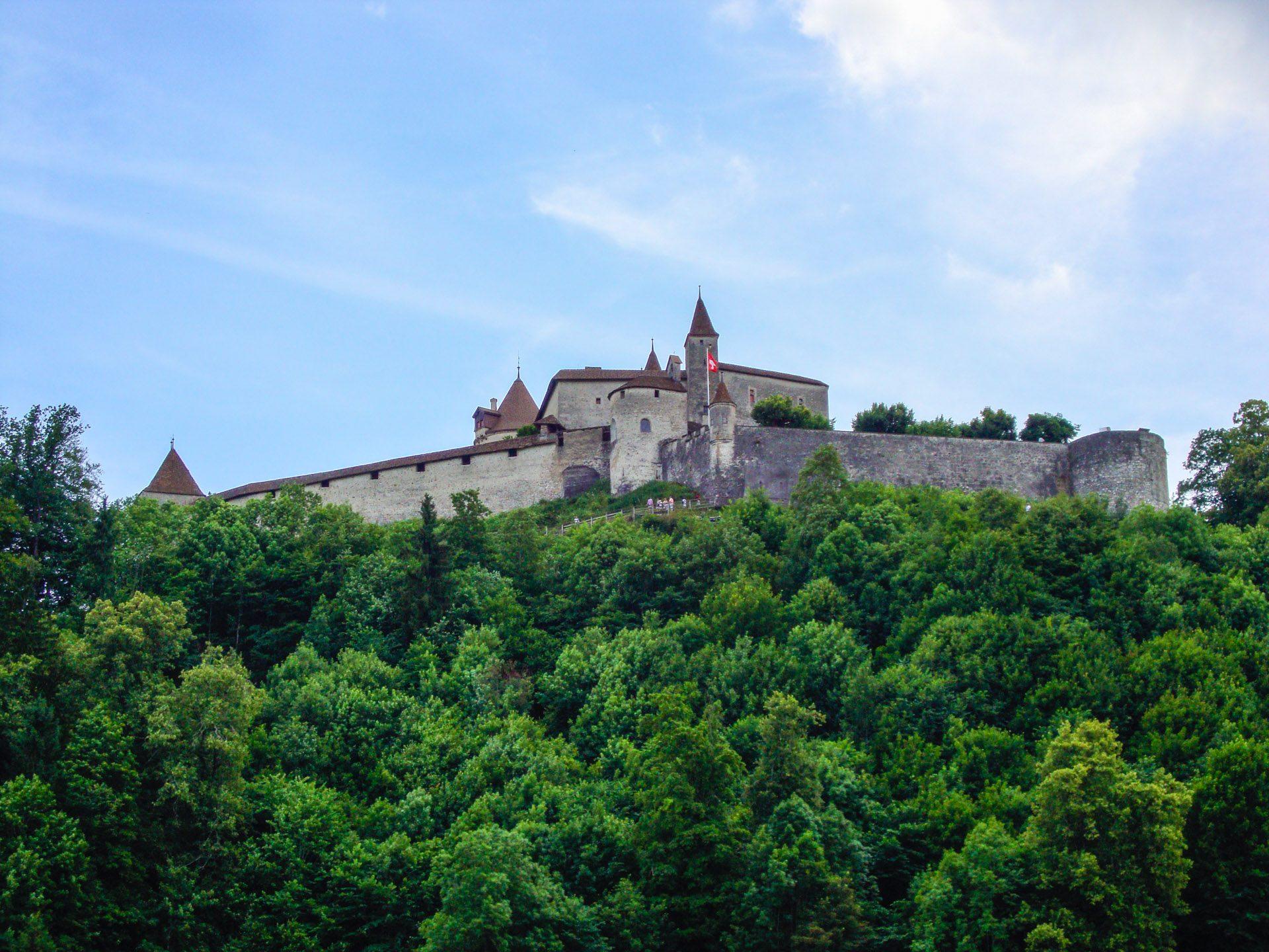 Historic Town Gruyères Switzerland