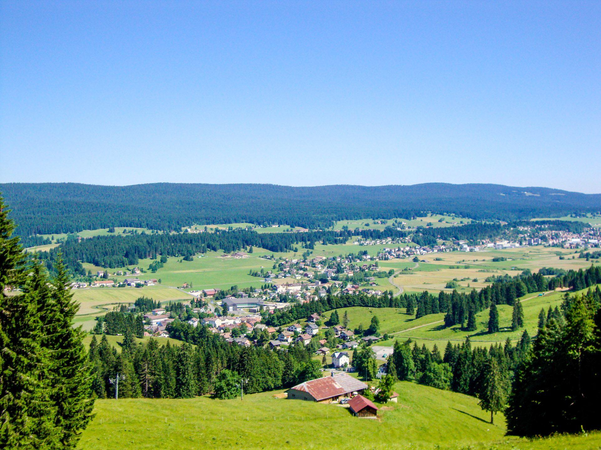Green rolling hills of Switzerland