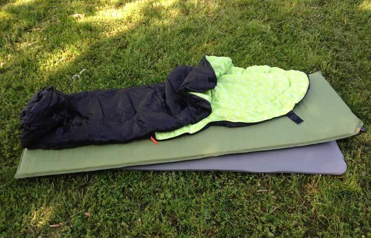 Sleeping mat, pad, and bag