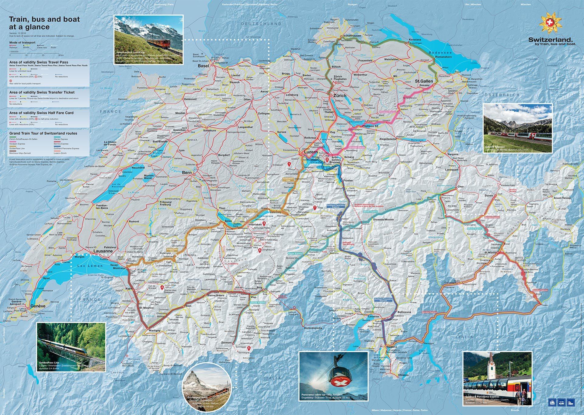 Swiss Railway map (credit: Swissrailways.com)
