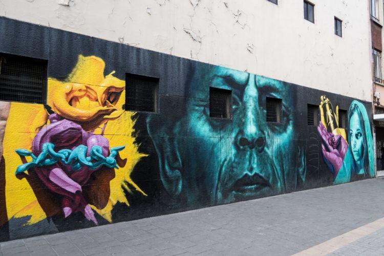 Creepy mural