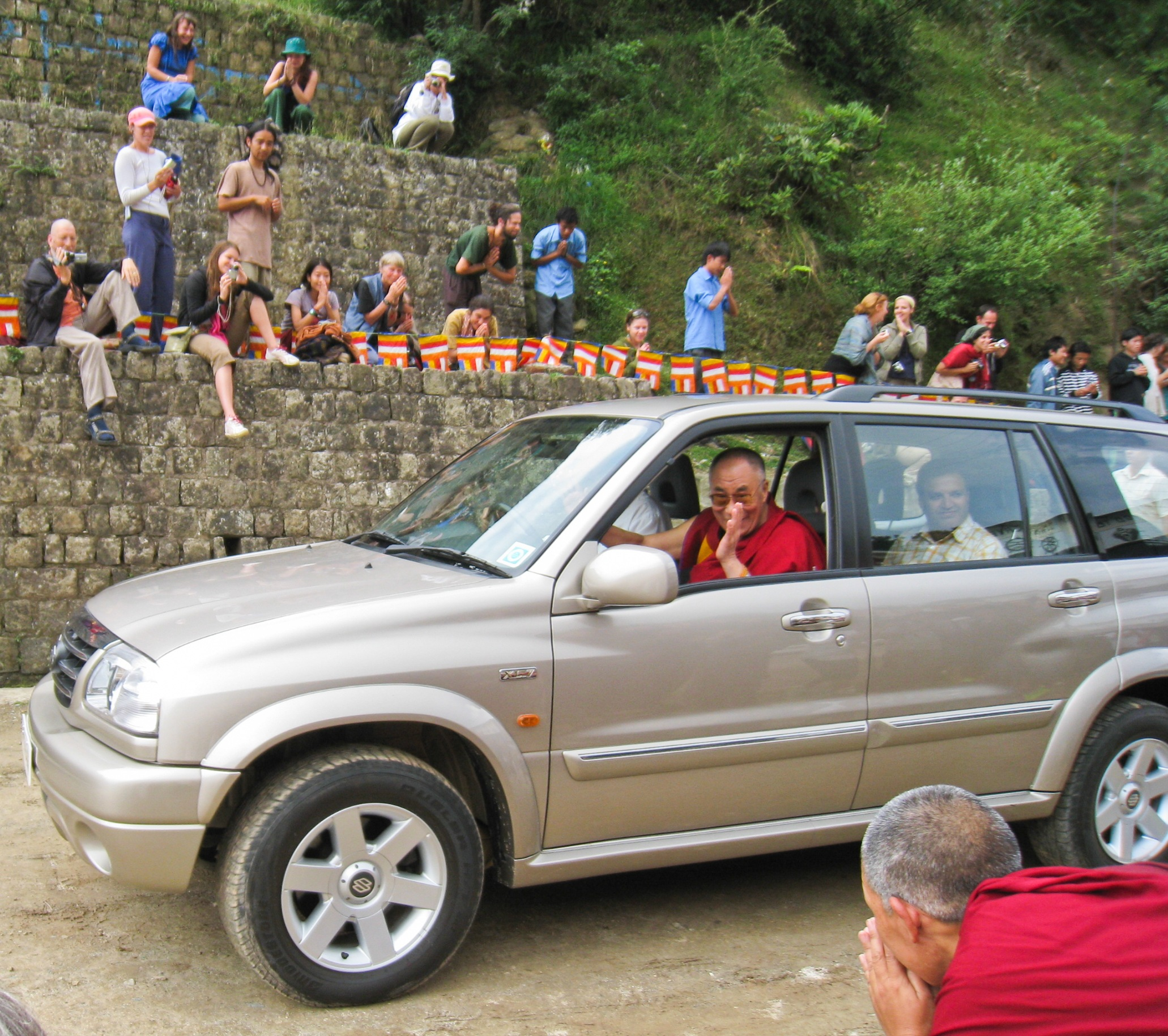 His Holiness the Dalai Lama in northern India.