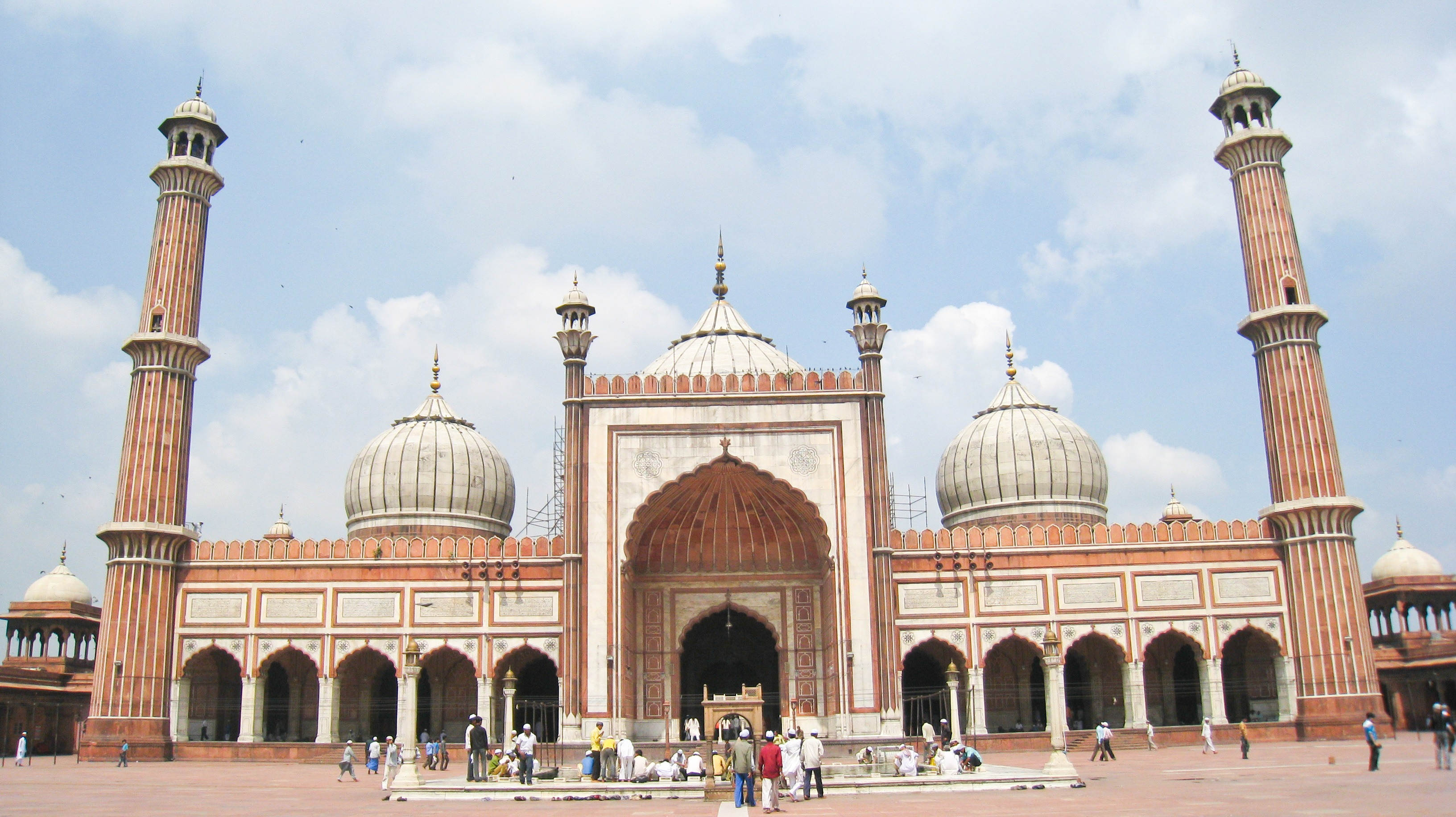 Jama Masjid, one of the biggest spirtual sites in India for muslims.