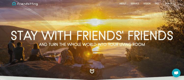 Friendsitting travel networking platform