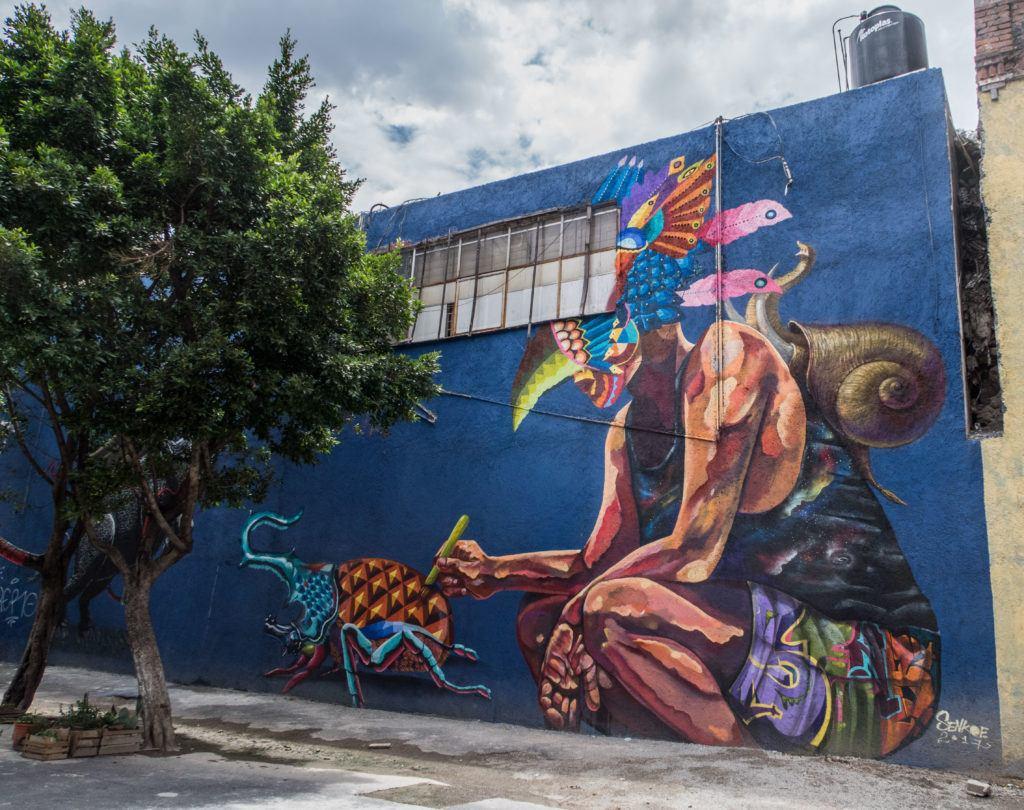 Snail mural - Mexico City