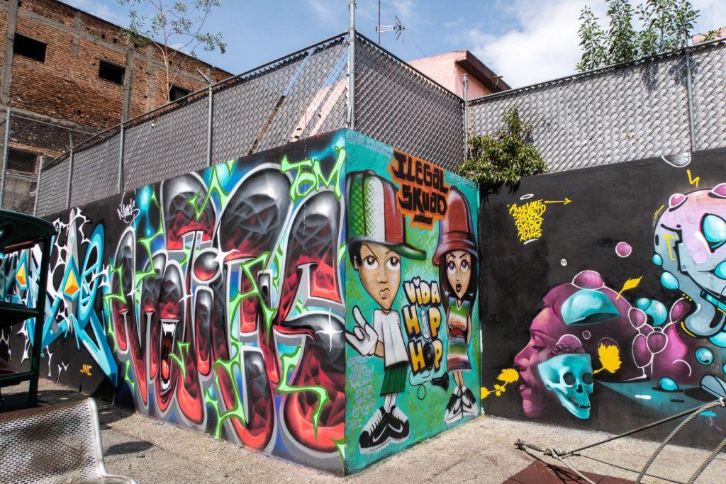 Hip hop street art
