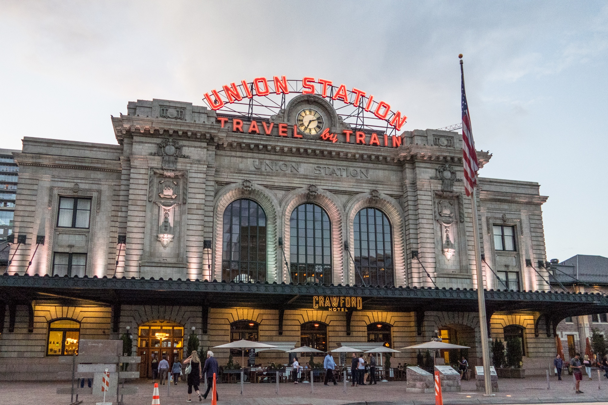 Visiting Union Station, one of many things to do in Denver