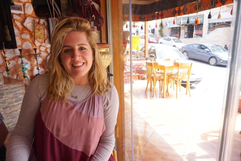 At a restaurant in Petra, Jordan
