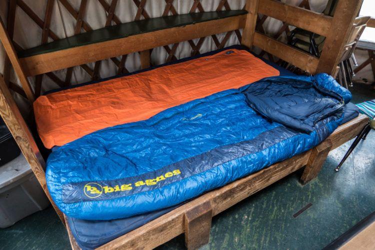 Big Agnes sleeping bag and air mattress