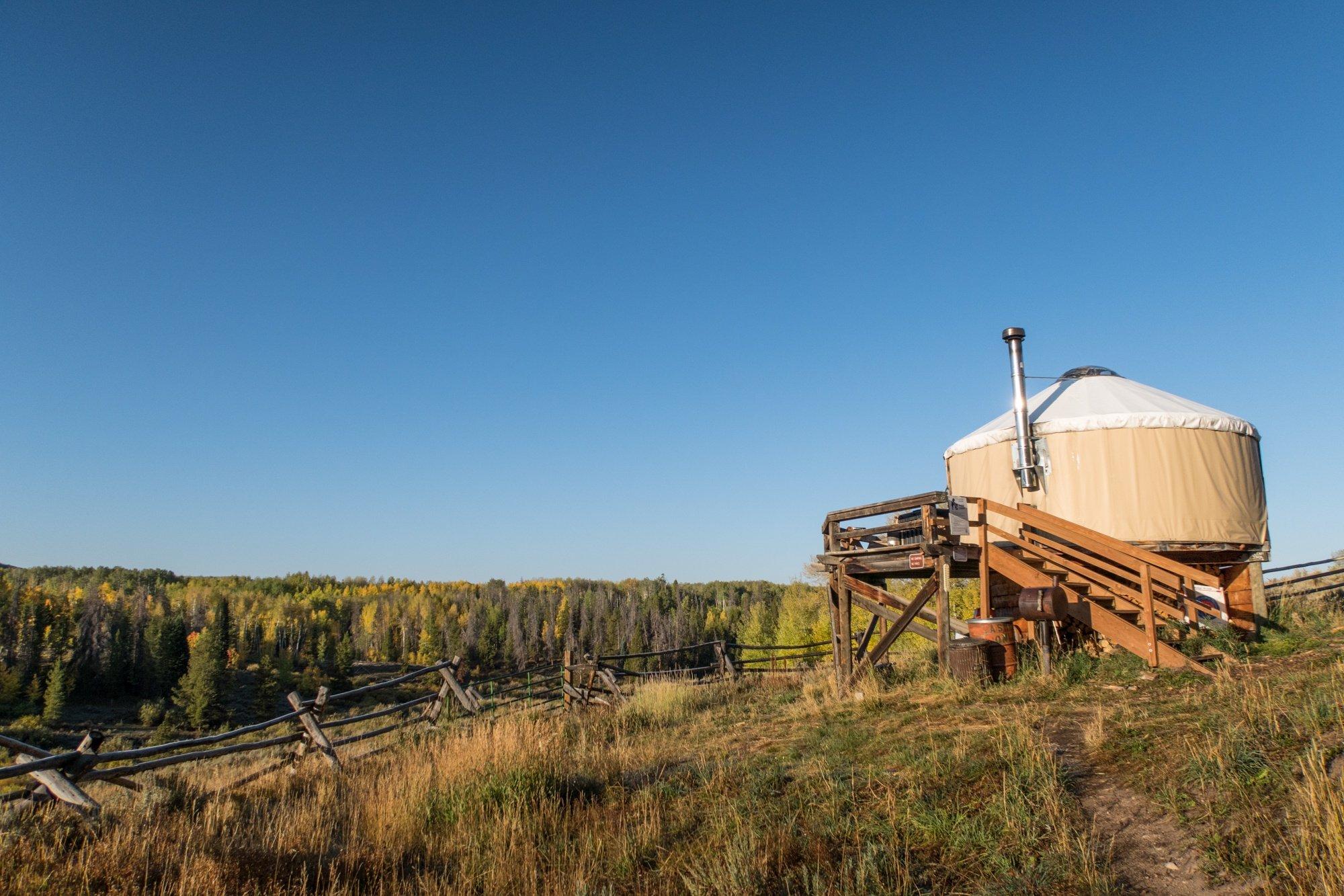 North Fork Candian Yurt at sunrise