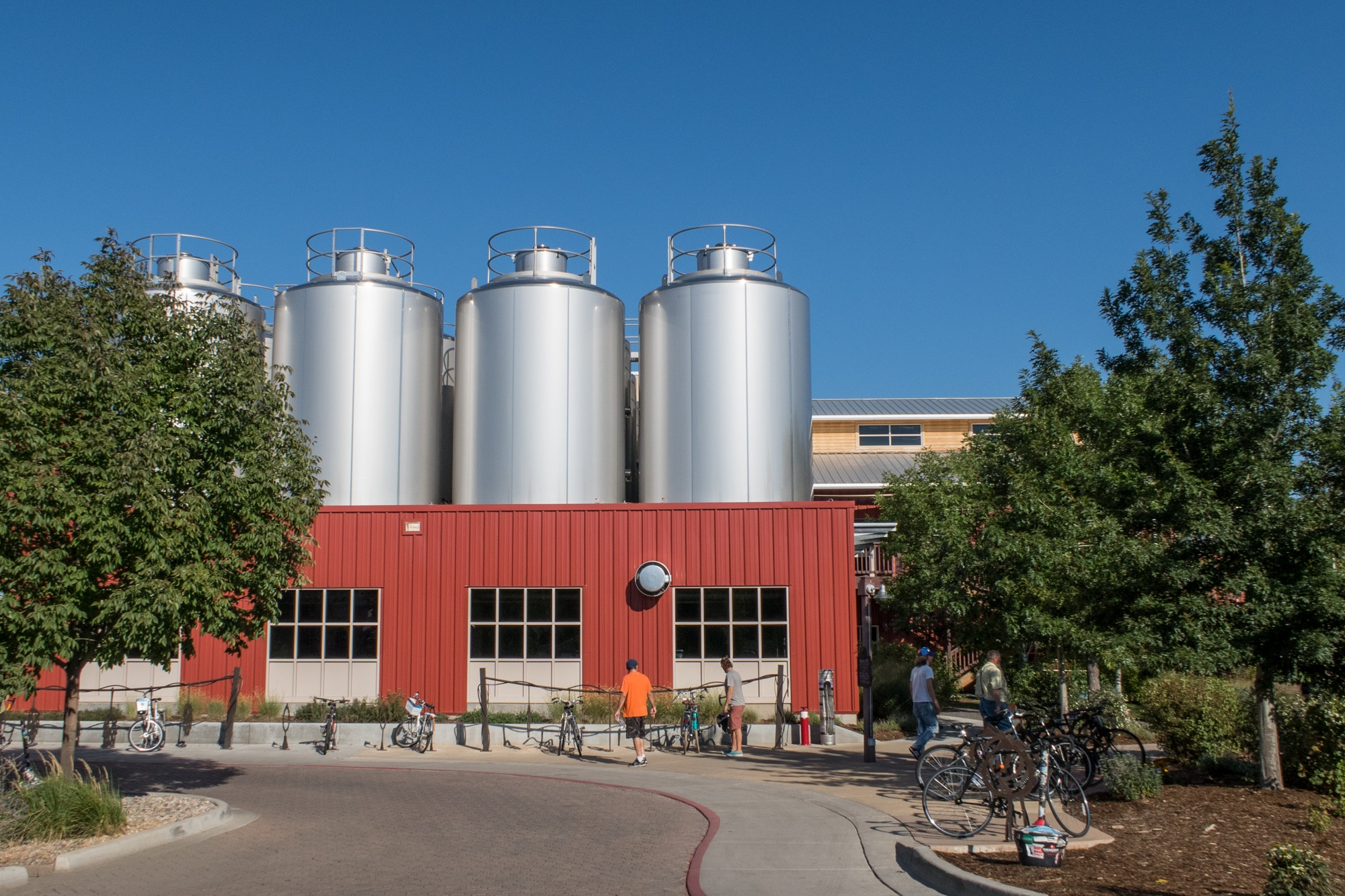 Entrance to Odell Brewing Co., the first stop on my Fort Collins beer and bike tour