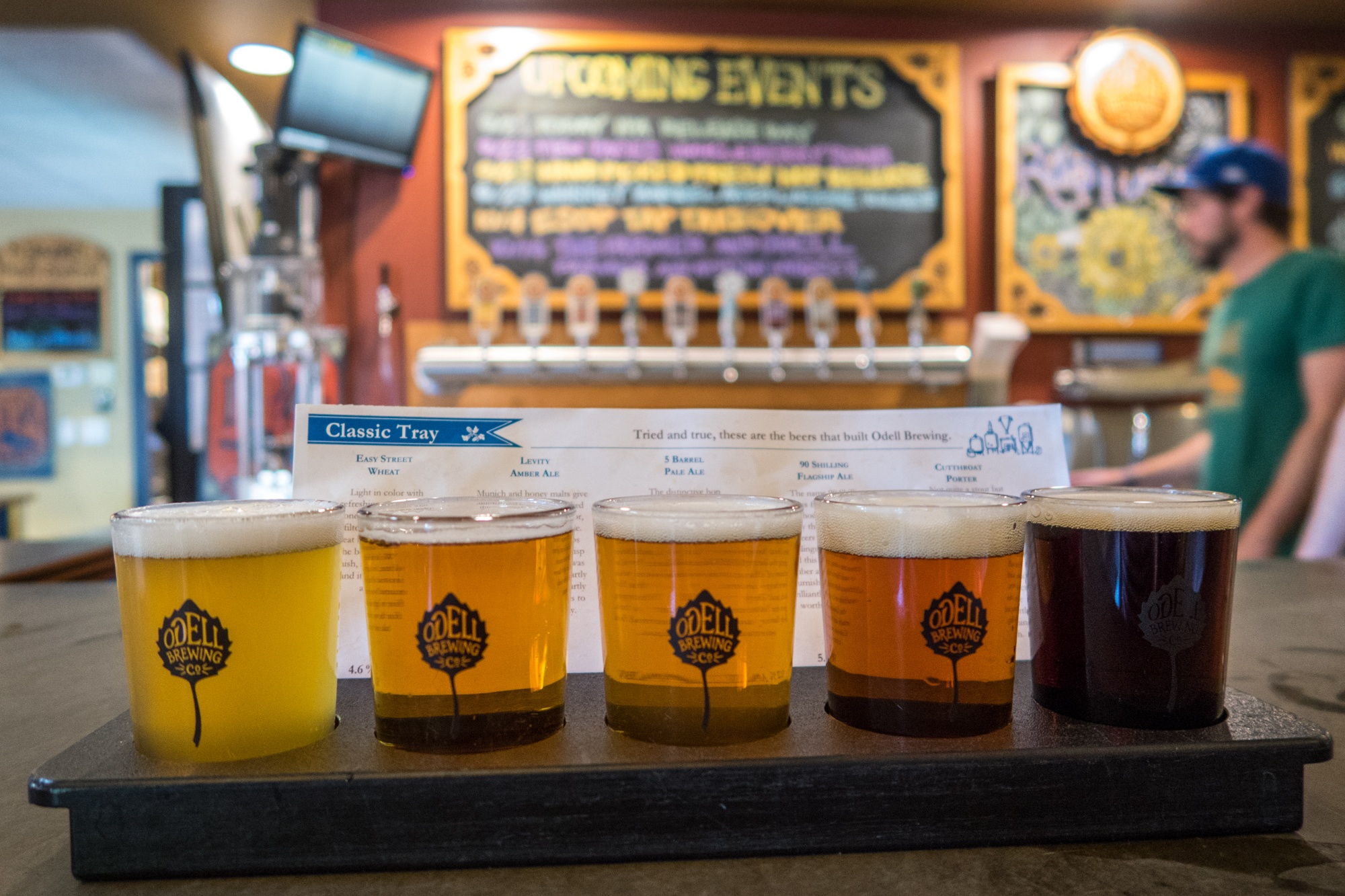 Odell Brewing beer flight