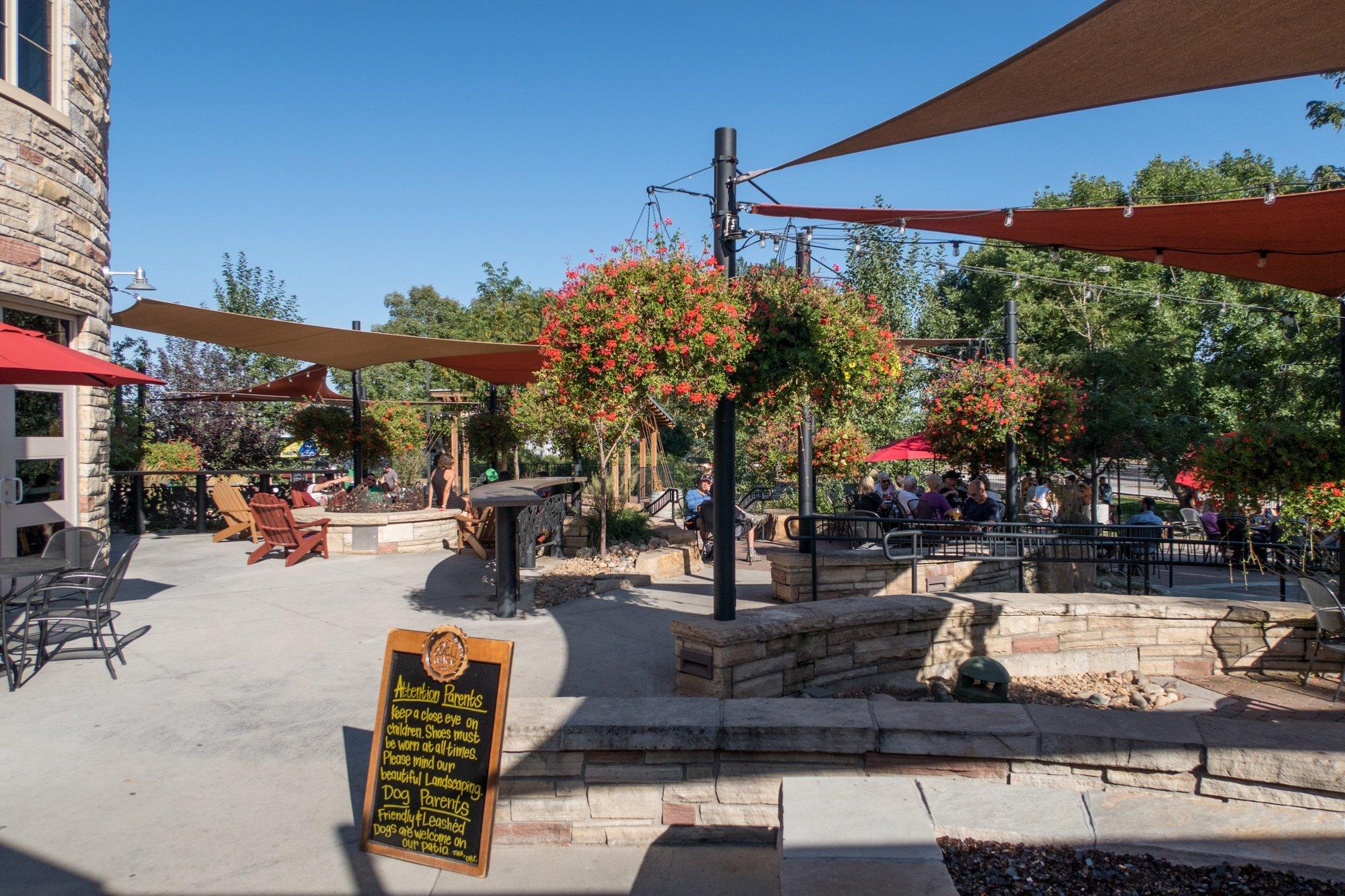 Odell Brewing's beer garden