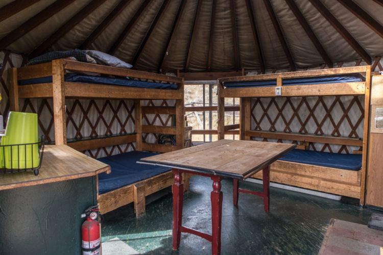 Bunk beds inside North Fork Canadian Yurt