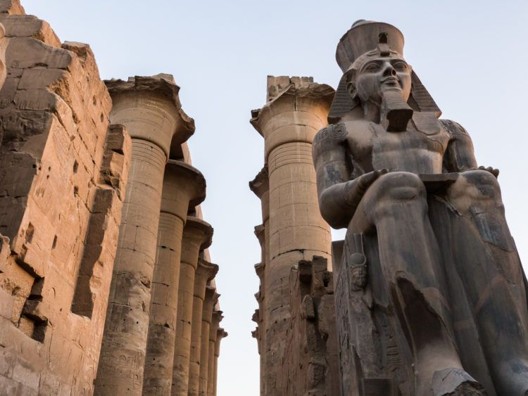Statue of Ramses II at Karnak Temple