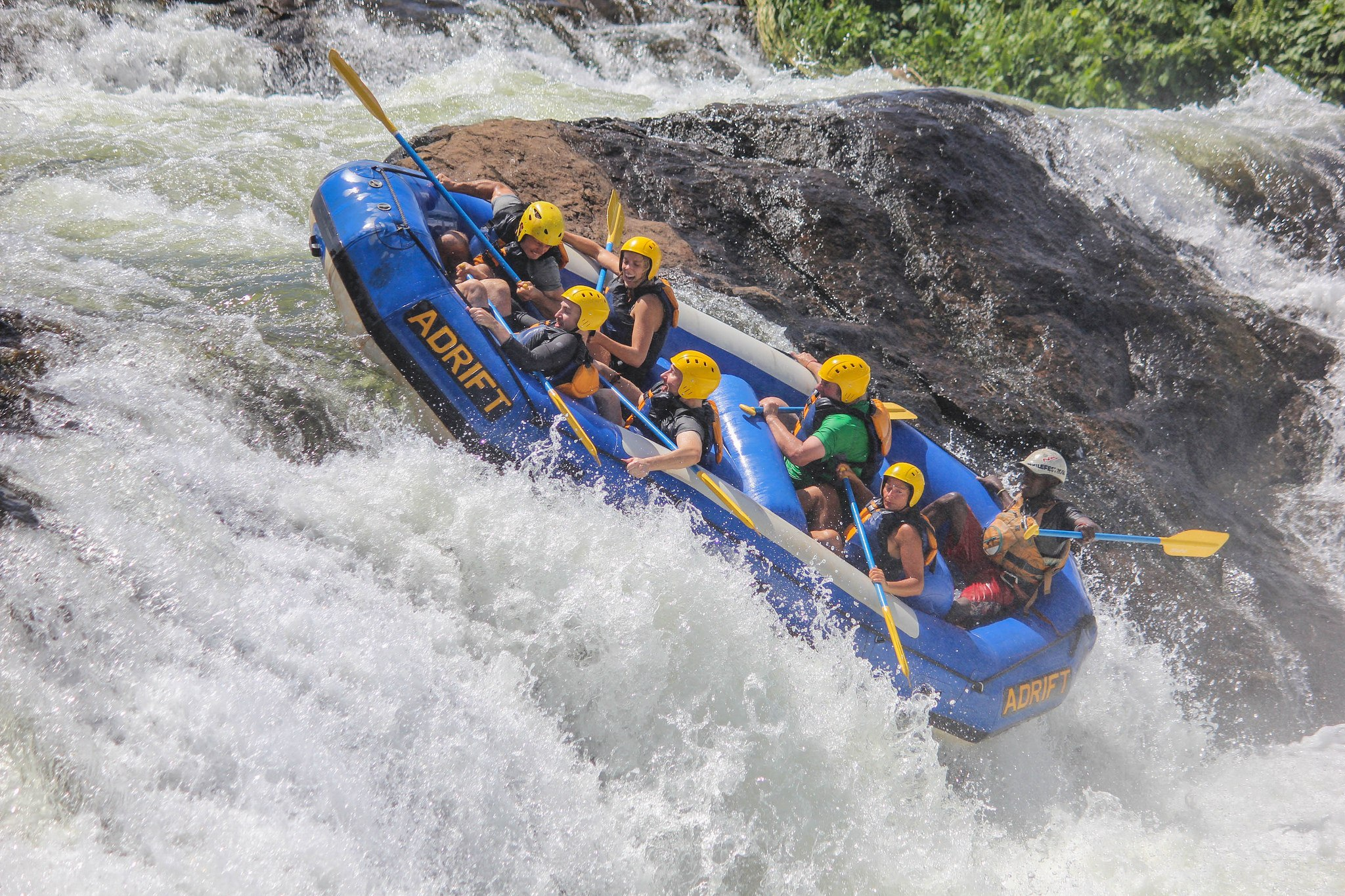 Whitewater rafting on the Nile River