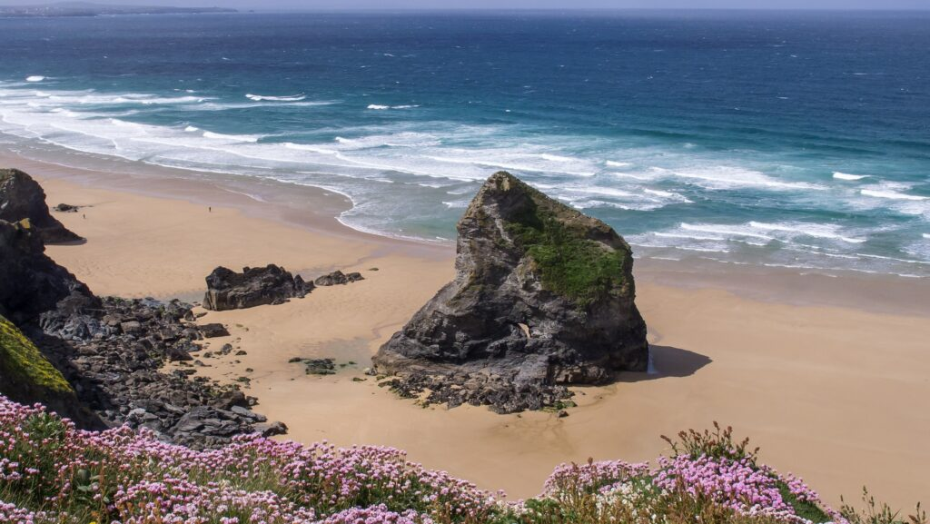 Bedruthen Steps in Cornwall