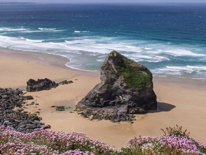Bedruthen Steps in Cornwall