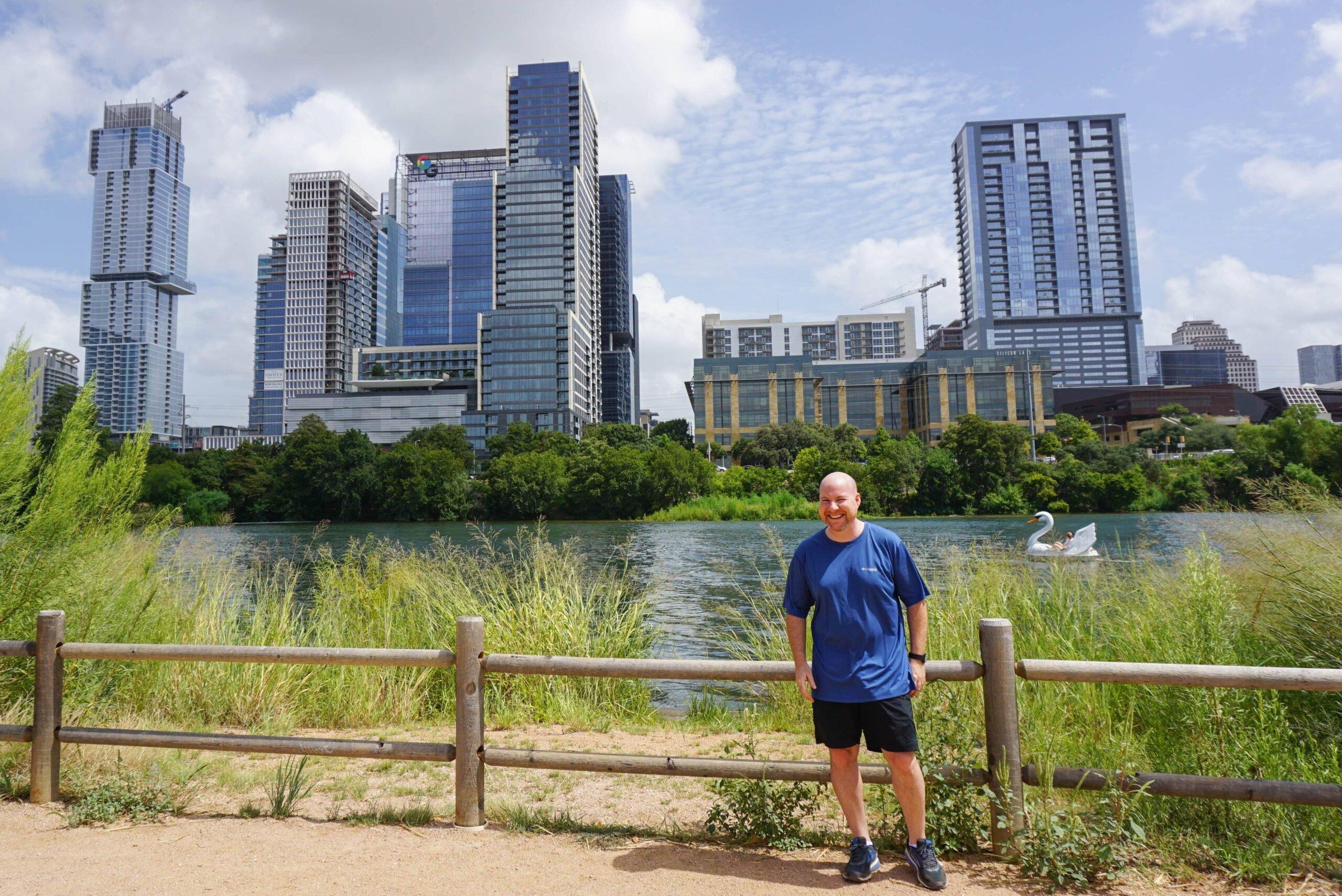 Staying cool in Austin with Columbia sportswear on a walk around Ladybird Lake