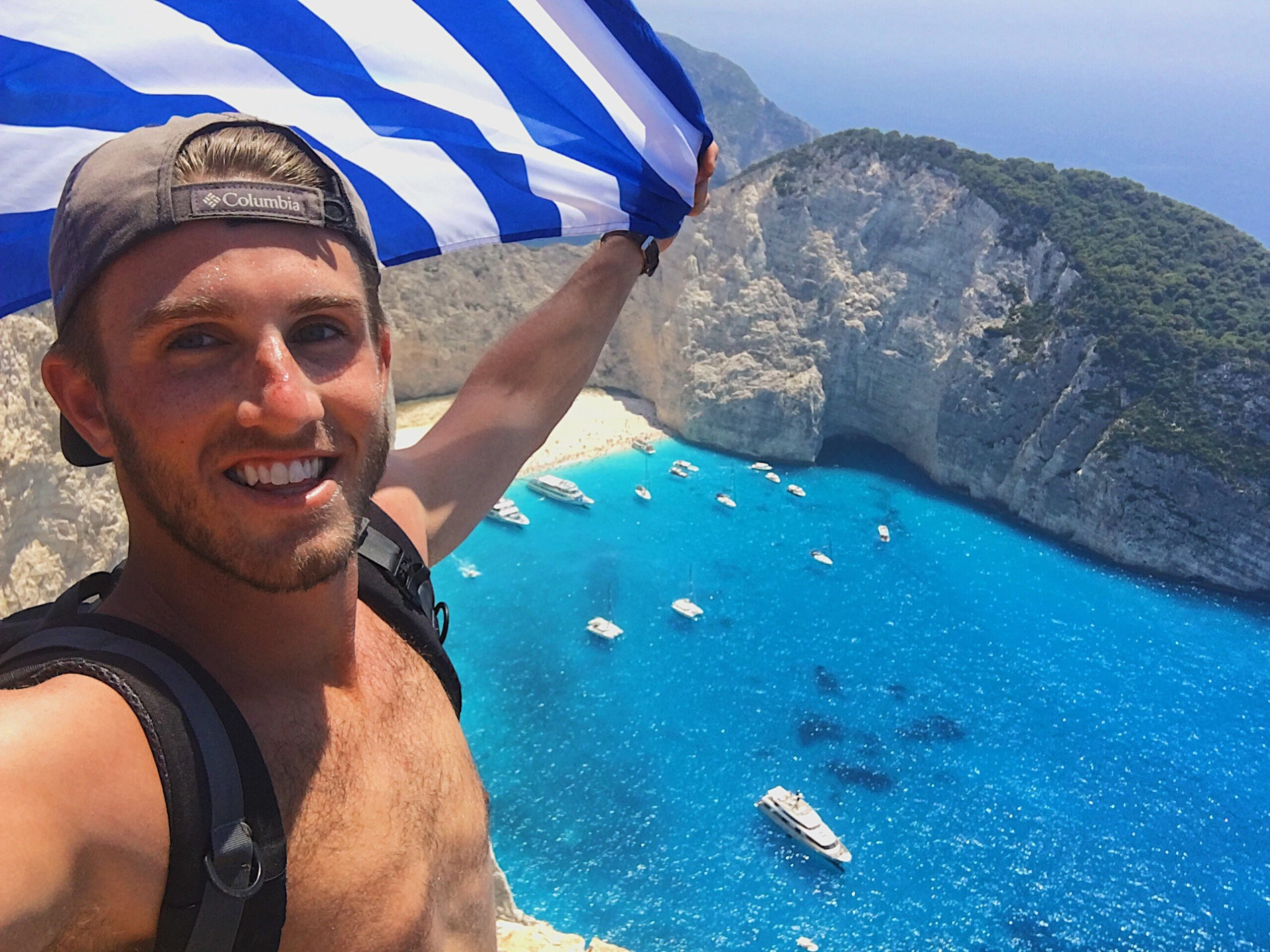 Adam Cheshier in Zakynthos, Greece