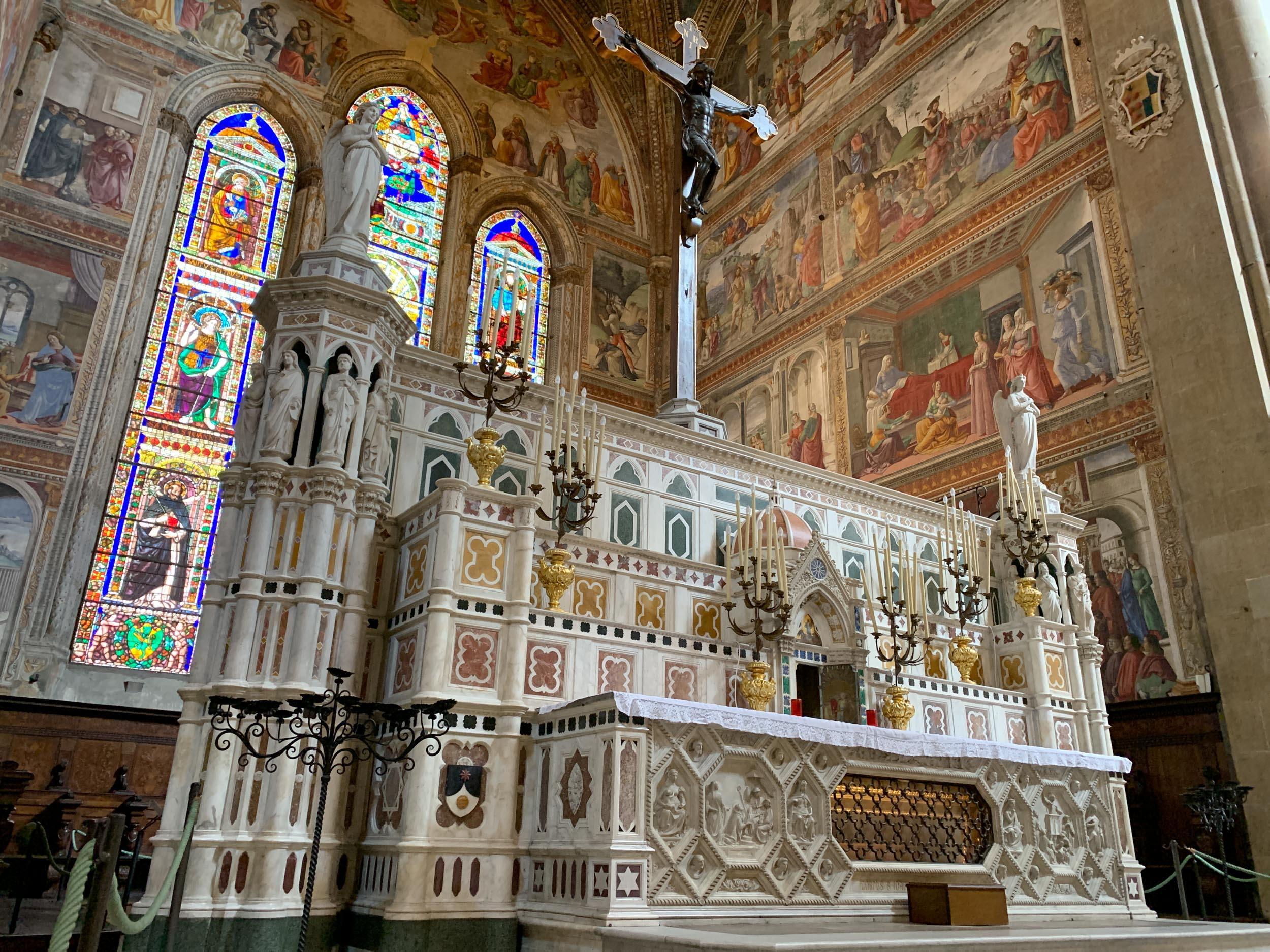 Pulpit designed by Filippo Brunelleschi