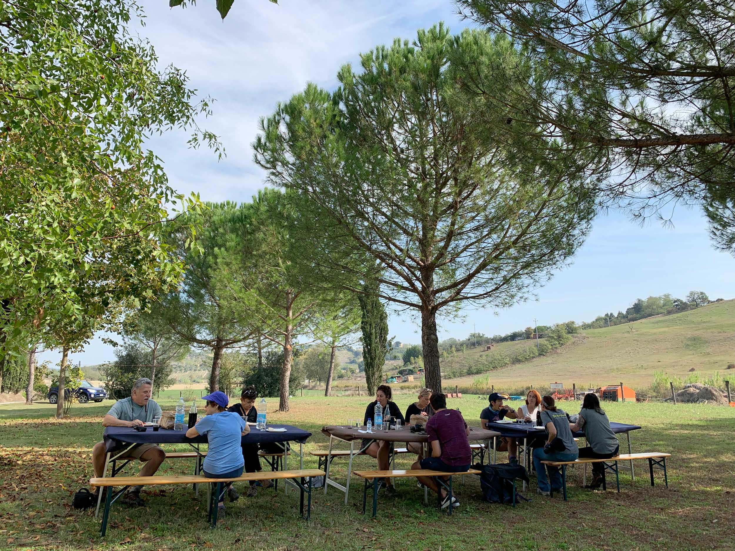 Lunch on an organic farm