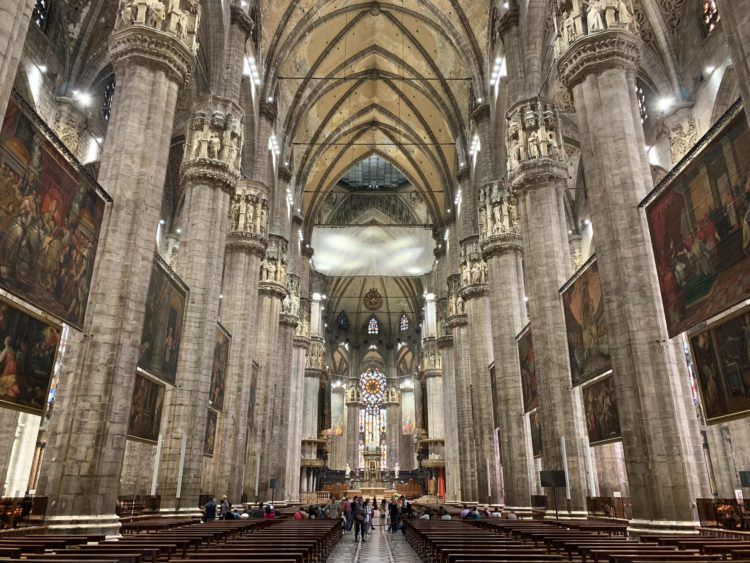 View of the 520-foot (158m) long nave