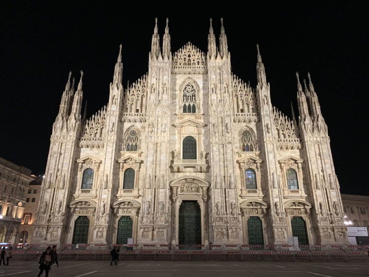 The Milan Cathedral at night