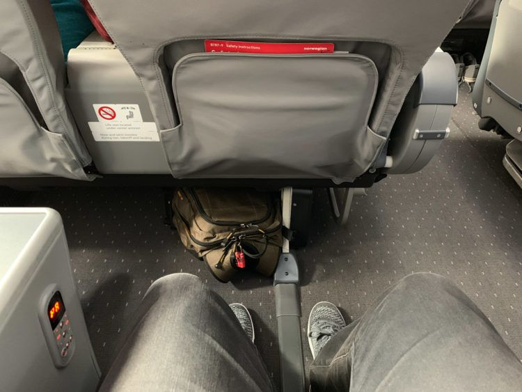 Norwegian Air 787 Premium seat legroom