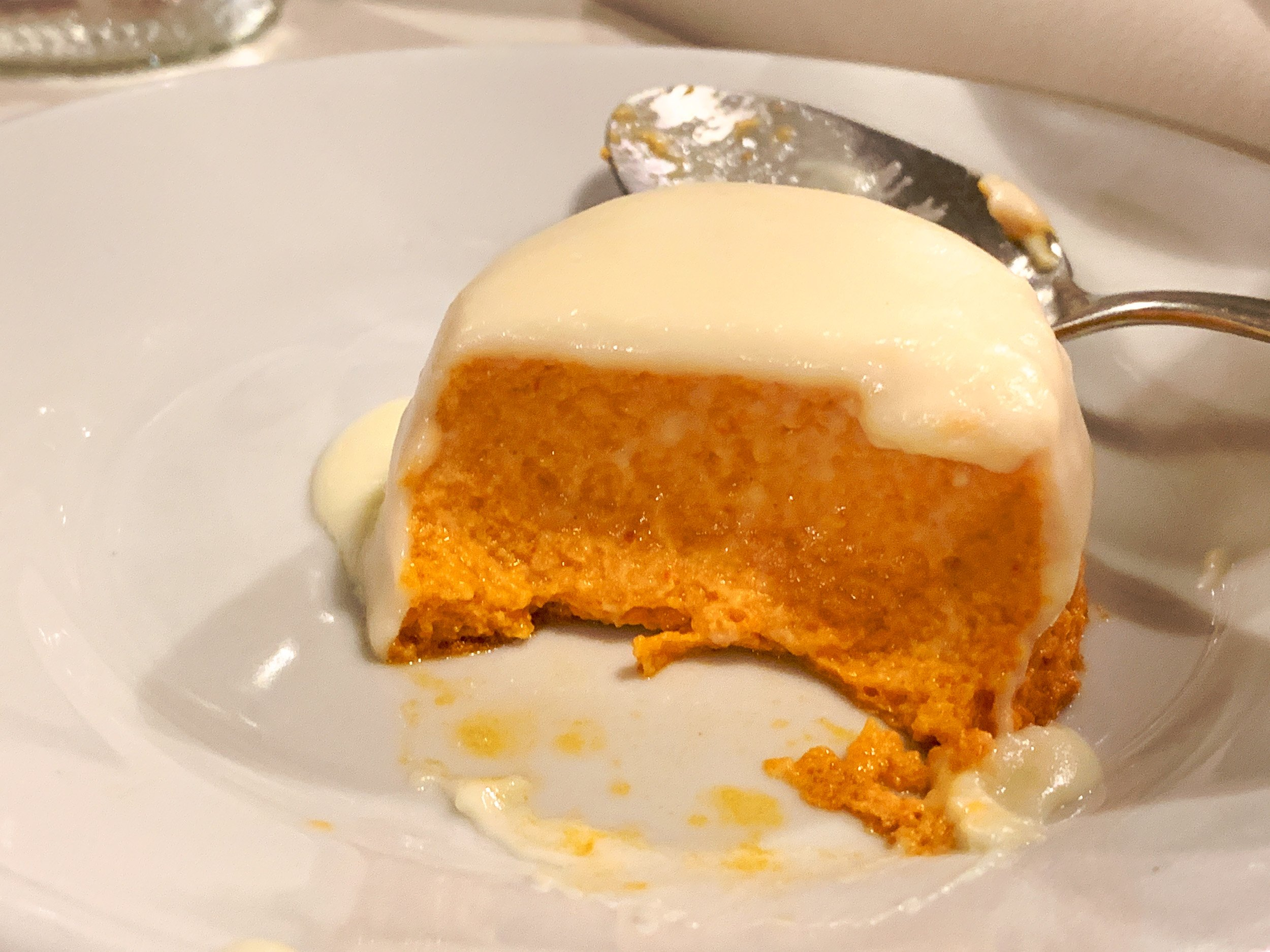 Red pepper pudding