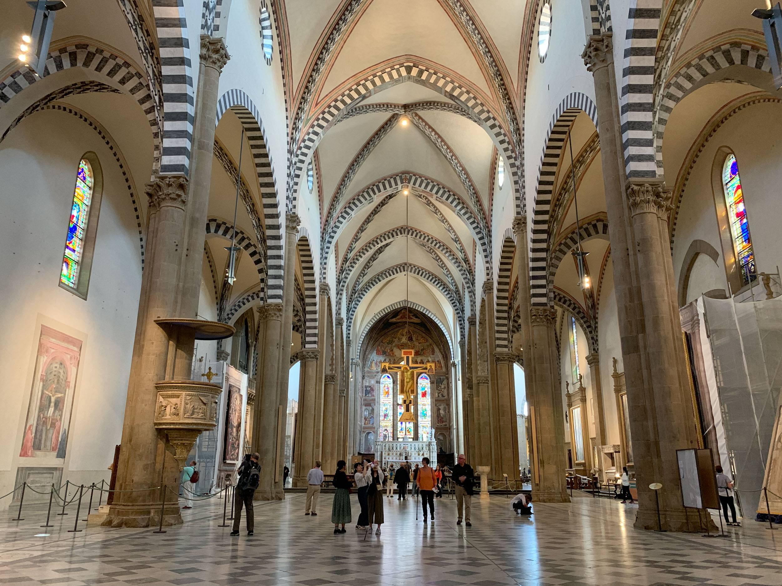 The nave in Santa Maria Novella