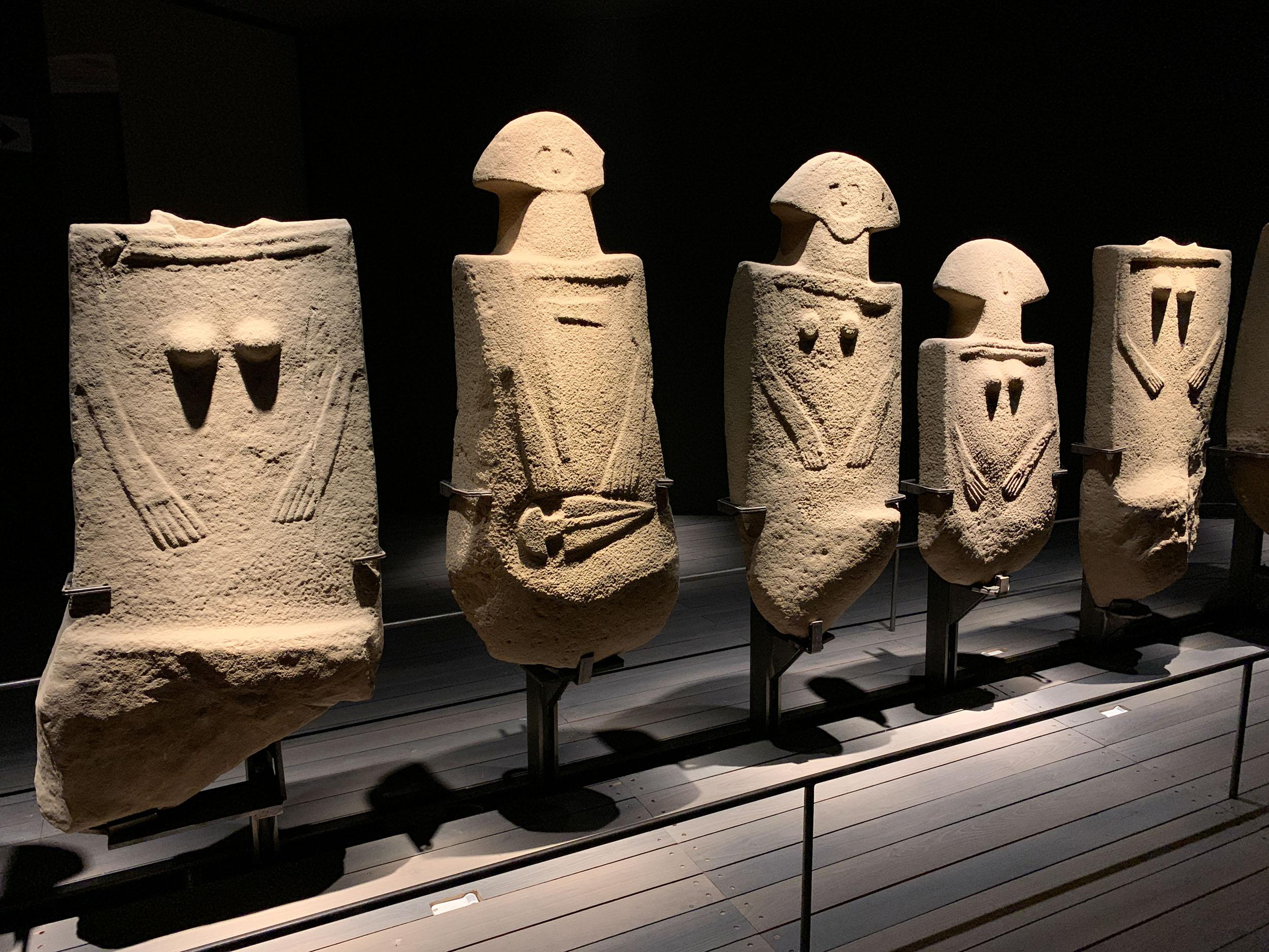 Ancient stone sculptures on display at the Stele Statue Museum