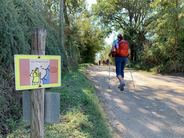 The Via Francigena is well-marked in Tuscany