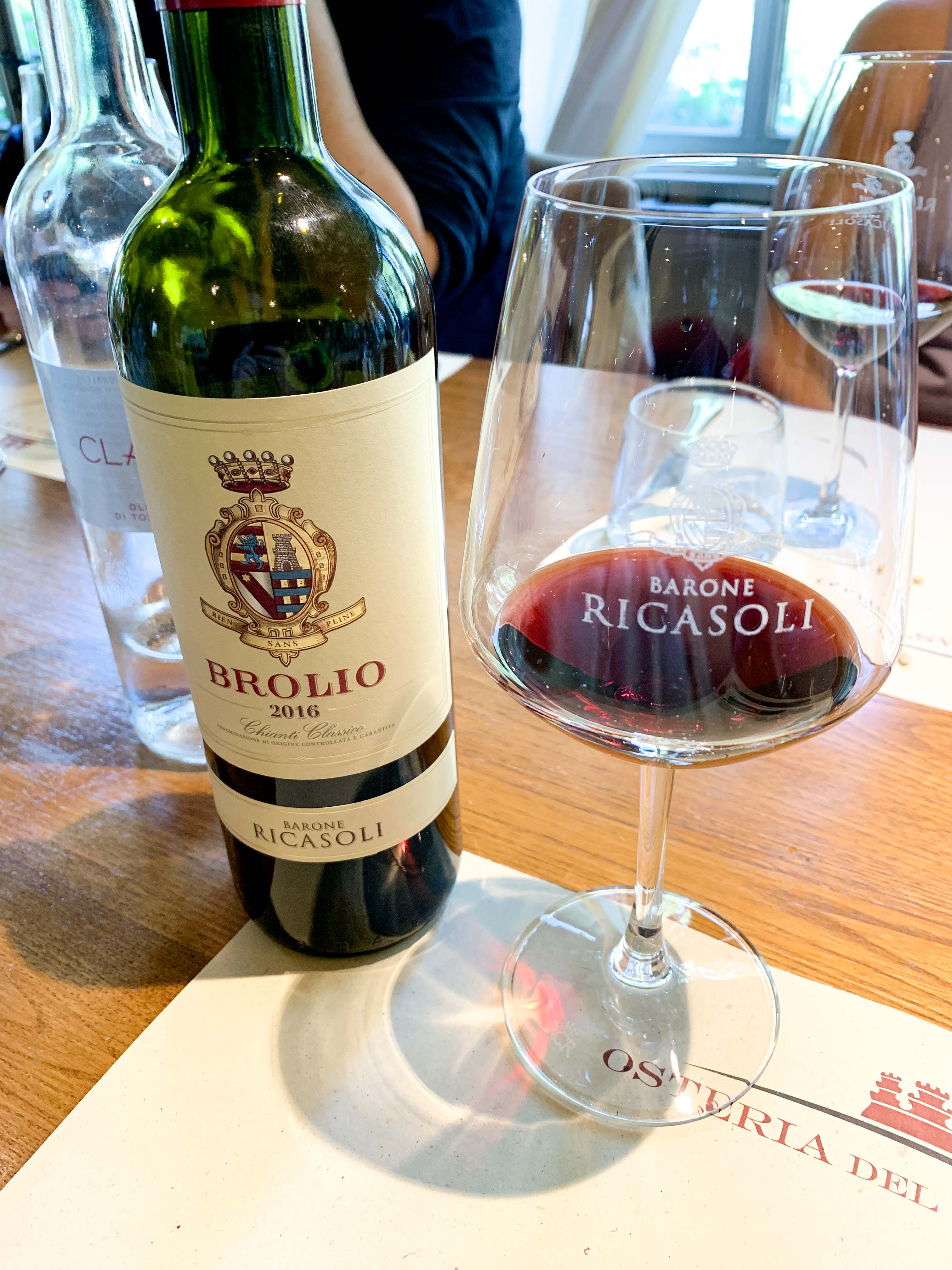 Drinking Chianti Classico with lunch