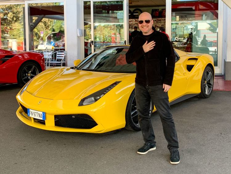 Dave and the Ferrari 488 Spider he drove