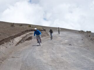 Downhill mountain biking Cotopaxi