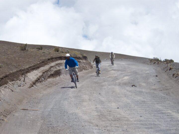 Downhill mountain biking Cotopaxi