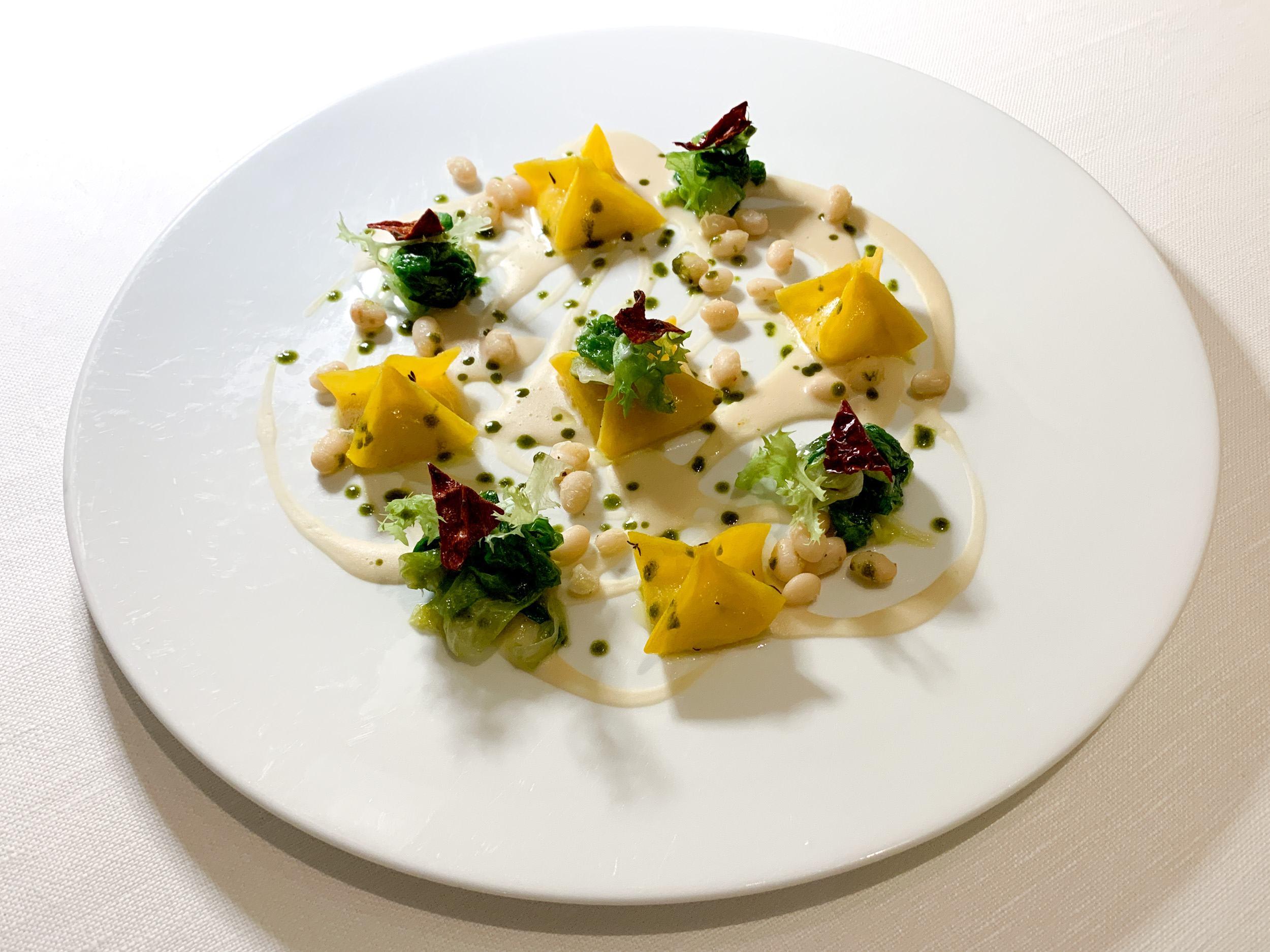Fresh egg pasta at the Michelin-starred I Portici restaurant.
