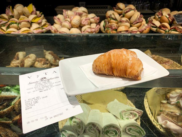 Pastry in Milan train station (photo: David Lee)