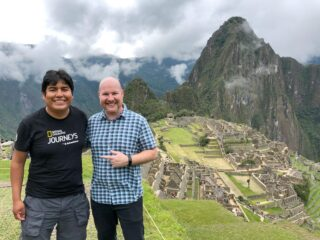 Machu Picchu with my guide from G Adventures