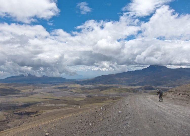 Mountain biking Cotopaxi Volcano