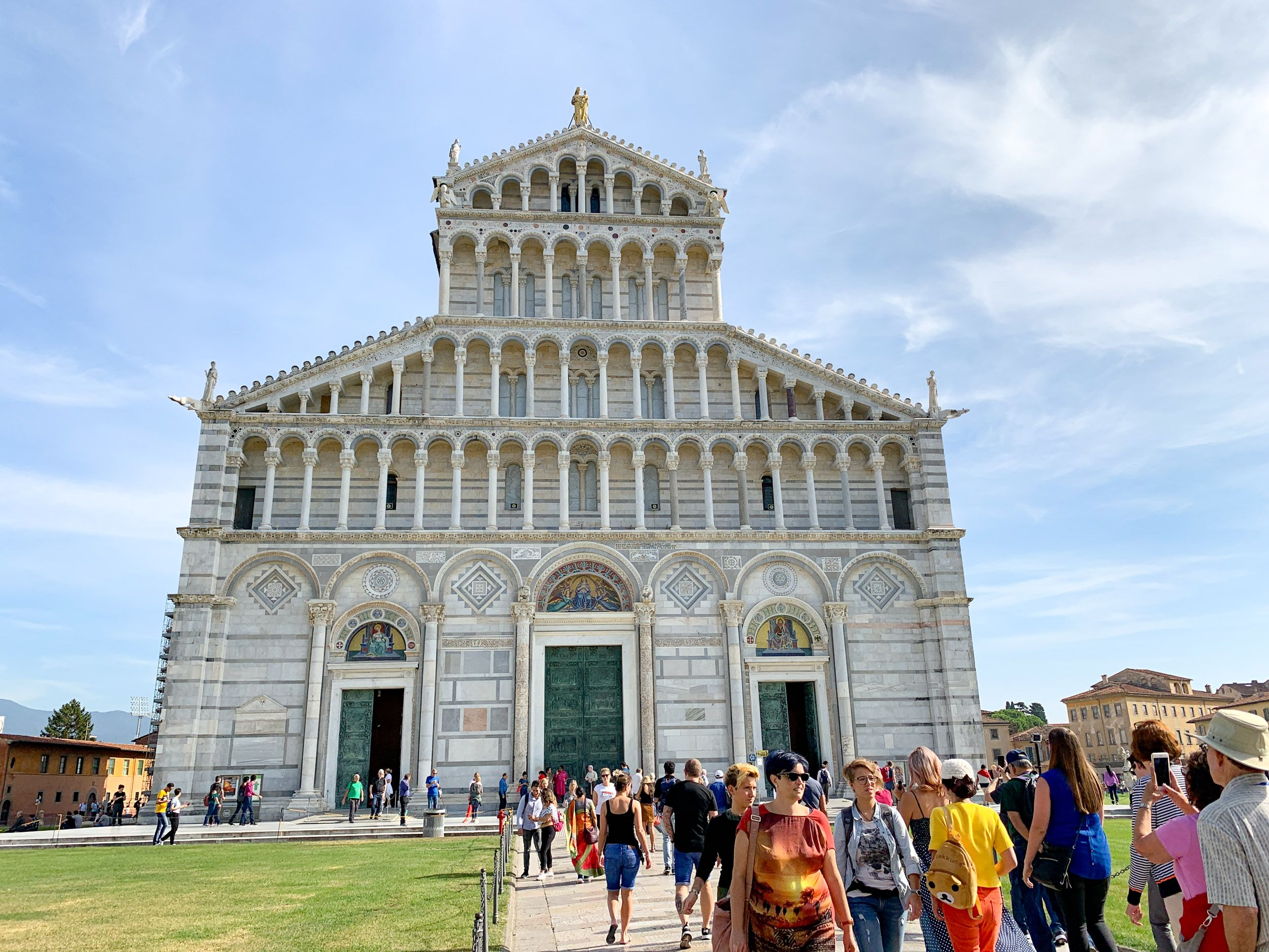 The facade of Pisa Cathedral