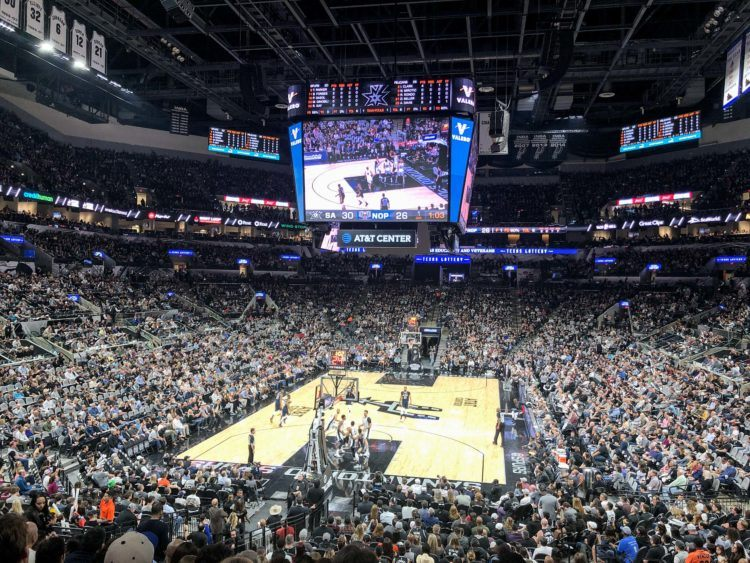 Watching the San Antonio Spurs at my first NBA game
