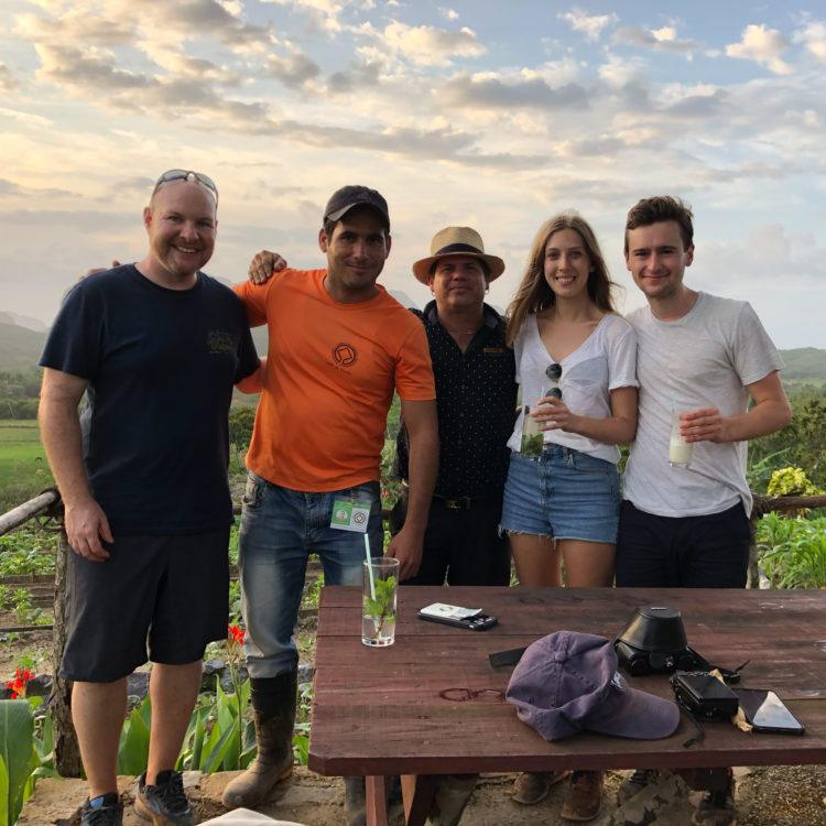 Tobacco tour guide and group - Vinales, Cuba